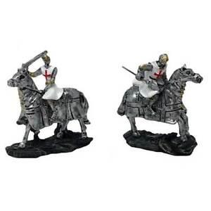 2er Set Kreuzritter weiß-rot auf Pferd