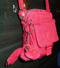 KIPLING TEDDY SMALL SHOULDER BAG AC3614 CHERRY RED PINK NYLON MINI CROSSBODY