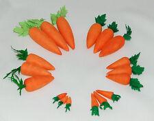 10 Deko-Möhren mini gepresste Watte, Karotten, Rüben, Ostern,Schneemann, 17-40mm
