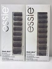 Essie Sleek Stick UV Cured Nail Applique 090 Stickers + Stones Lot of 2 New
