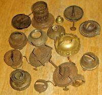 Antique Lot Kerosene Oil Lamp Burner Parts