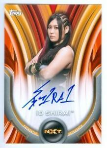 "IO SHIRAI ""ORANGE AUTOGRAPH CARD /50"" WWE WOMENS DIVISION 2020"