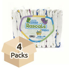 GetNappied Little Rascals (PE Backed) - L - Case - 4 Packs of 10 - ABDL Adult...