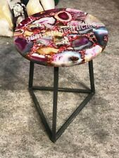 "15"" Sale Online Pink Agate Stone Coffee Table Top Beautiful Gift For Her Wedding"
