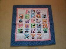 NEW Hawaiian Baby Quilt Blanket Wall Hanging Alphabets