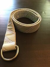 Vineyard Vines Green Belt With Blue and White Rope Design Size Med