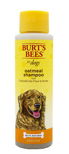 NEW! Burt's Bees OATMEAL SHAMPOO for Dogs Colloidal Oat Flour & Honey HQ 72103