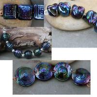Peacock - Handmade Glass Lampwork  Beads MTO elasia - Choose Shape