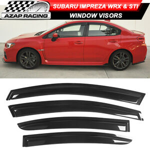 Fits 15-21 Subaru WRX STI Impreza Sedan Acrylic Window Visors 4Pc Set