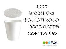 BICCHIERE POLISTIROLO CAFFE 80CC C/COPERCHIO PZ 1000 MONOUSO BAR ASPORTO TERMICI