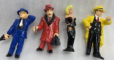 "Vintage Disney Dick Tracy 4"" Pvc Figure Lot 3 & Breathless Mahoney 3.5� Madonna"