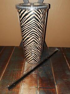 Vera Bradley 24oz. Travel Tumbler w/ Straw in zebra NWT BPA Free Great Gift ❤