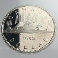 1982 Canada 1 One Dollar Proof KM# 120.1 Uncirculated Elizabeth II Coin U997