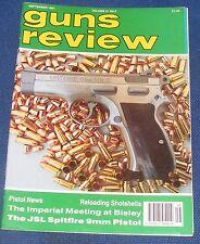 GUNS REVIEW MAGAZINE SEPTEMBER 1991 - THE JSL SPITFIRE 9 MM PISTOL