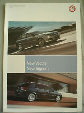 Vauxhall Vectra & Signum Product Preview brochure Jul 2005
