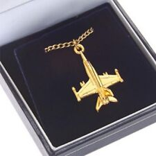 F/A 18 Hornet - 22 Carat Gold Plated Pendant & Chain -
