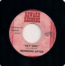 """70s FUNK 7"""" 45 - MORNING AFTER - HEY GIRL / DISCO TICK - US REWARD - 2nd ISSUE"""