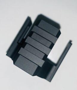 Black Aluminum Ruger 10 22 Barrel Band Bottom Picatinny Rail With M-LOK Mount