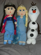 OLAF / ELSA/ PRINCESS ANNA  FROM  FROZEN * 3  TOY  KNITTING PATTERNS  ONLY **
