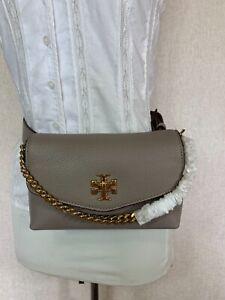 NEW Tory Burch French Gray Kira Mixed-materials Belt Bag $278