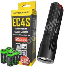 New NITECORE EC4S Cree LED 2150 Lumens flashlight with holster & CR123 Batteries