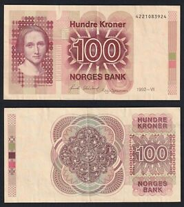 Norvegia 100 kroner 1992 SPL/XF  A-10