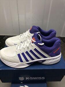 K-Swiss Womens Express Light Tennis Shoes -  White Purple UK 7 with BOX