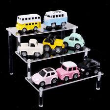 2x Acrylic Riser Display Stand Step Shelf Organizer for Figures 3 Tier