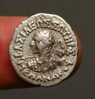 "IG17-24  Bactrian / Indo-Greek, Menander I, 165-135 BC. Drachm.  ""Spear-chucker"""