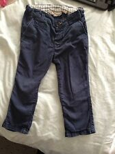 Baby boy H&M h + m trousers, 12-18 m, navy, chino style, cotton