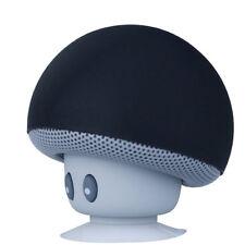 Mini Mushroom Wireless Bluetooth Speaker Portable MP3 Player With Mic Black