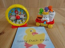 MCDONALDS TOYS Lot of 2 Vintage 1989 Clock 1994 Rolling Tray of Food