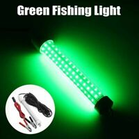 12V LED Green Underwater Submersible Fishing Light Night Crappie Shad Squid Boat