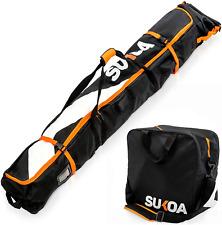 Ski Bag and Ski Boot Bag Combo for Air Travel Unpadded - Ski Luggage Bags for -