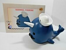 Narwhal Whale Figurine Cracker Barrel Resin Collectible New in Box