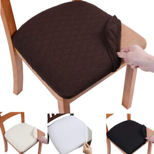 Sretch Jacquard Spandex Slipcover Dining Room Chair Seat Cushion Covers Solid