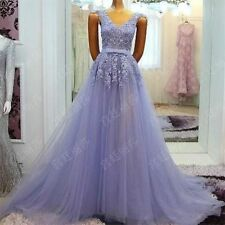 Long Applique Evening Formal Pageant Prom Ball Gown Party Dress Homecoming