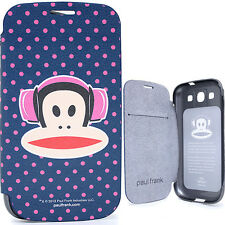 Paul Frank Phone Case Samsung Galaxy S3  Flip Cover Pink Dots Head Phone