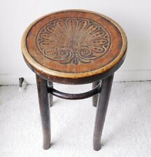 Rare Michael Thonet Bentwood Stool Chair ORIGINAL LABEL Ottoman Bauhaus