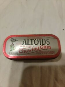 Altoids Collectible Peppermint sugar free gum red trimmed tin EMPTY