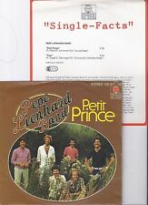 "Pepe Lienhard Band, Petit Prince, Promo Info, VG+/VG++ 7"" Single 0884-3"
