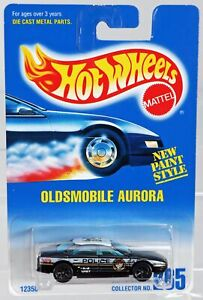 Hot Wheels Oldsmobile Aurora Police Car #12358 Never Removed from Pack 1991 1:64