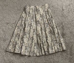 THE VILLAGER Womens Size 12 Paisley Print Vintage A Line Skirt