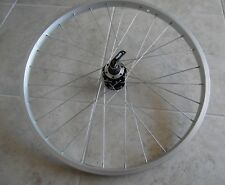 "Quando 24"" bike disc front wheel single wall alloy silver"