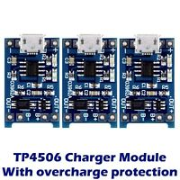 3x 18650 Lithium Battery TP4056 Charging Module Board Charger with Protection IC