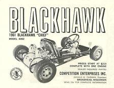 Vintage Beautiful 1961 Blackhawk Chief Go-Kart Ad