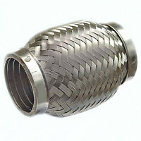 Stainless Steel Exhaust Flexible Pipe 50mm x 100mm with Interlock Flexi Joint