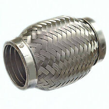 Stainless Steel Exhaust Flexible Pipe 45mm x 100mm with Interlock Flexi Joint