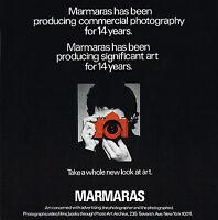 1970s Original Vintage John Marmaras Photographer Camera Photo Print AD c