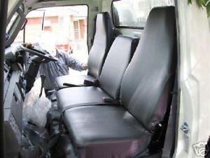 BLACK VINYL SEAT COVER, CUSTOM MADE SEAT COVER FIT DAIHATSU DELTA 1995 - 2004